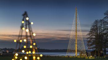 Festliche Illumination der Weihnachtsbeleuchtung