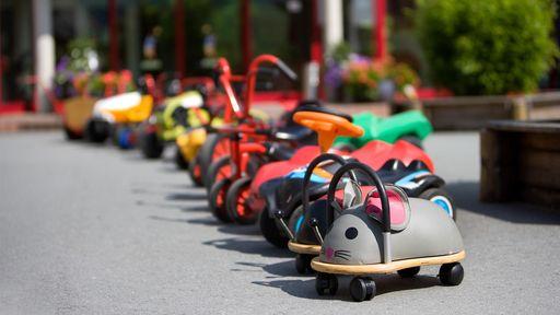 Spiel, Sport, Spaß im Fuhrpark im Familotel Sonnenpark erleben.
