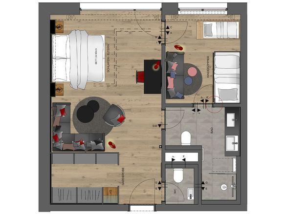 Family-Suite Premium * Grundriss #1