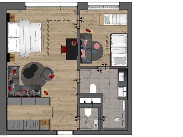 Family-Suite Premium Grundriss #1