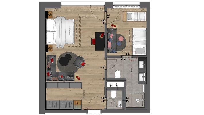 Hotel Zimmer: Family-Suite Premium - Schreinerhof in Schönberg