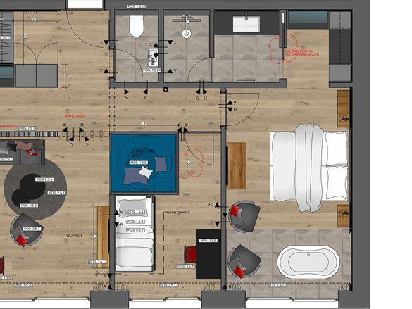 Luxus Suite Grundriss #1