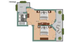 Appartements Appartement Wellenkuppe