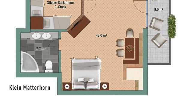 """Junior Suite """"Klein Matterhorn"""" Nord"""