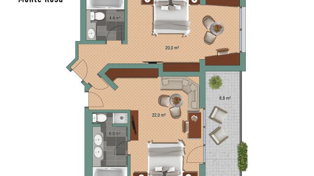 """Apartment """"Monte-Rosa"""""""