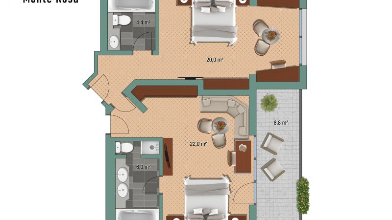 "Appartements Appartement ""Monte-Rosa"""