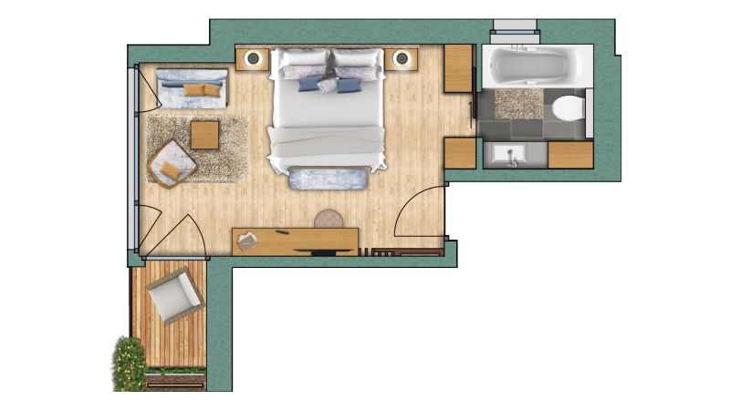 "chambres doubles Chambre double ""Obergabelhorn"" Superior"