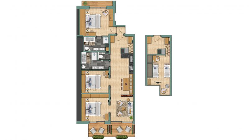 "Appartements Appartement ""Zinalrothorn"" View"