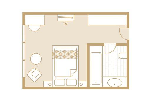 Superior Zimmer - Skizze