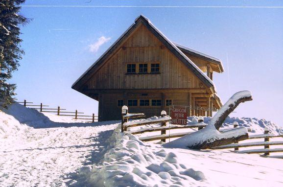 Winter, Gregor Peter Hütte in Preitenegg, Kärnten, Kärnten, Österreich