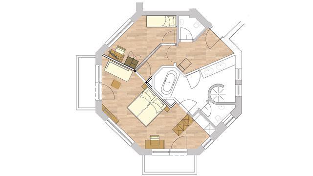 NEU Turmsuite   50 qm - 2-Raum