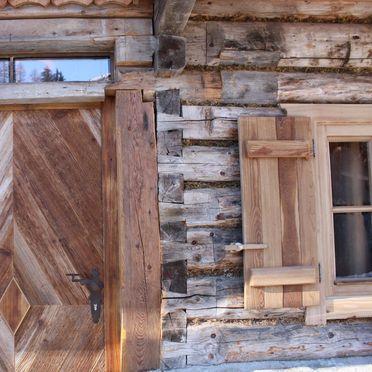 Entrance, Oberprenner Zirbenhütte, Haus im Ennstal, Steiermark, Styria , Austria