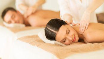 Paarmassage für den Rücken