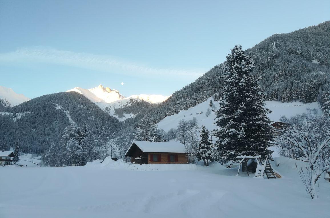 Ausserhof Hütte, Winter