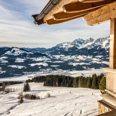 Blick auf die Piste, Steinbergalm in Kitzbühel - Oberndorf in Tirol, Tirol, Tirol, Österreich