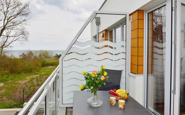 Balkon mit Blick auf die Ostsee
