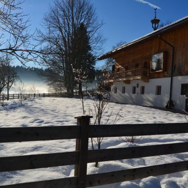 Winter, Bauernhaus Unterleming in Angerberg, Tirol, Tyrol, Austria