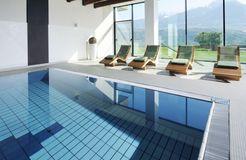 Biohotel Pazeider: Hallenbad - Bio- und Wellnesshotel Pazeider, Marling bei Meran, Trentino-Südtirol, Italien