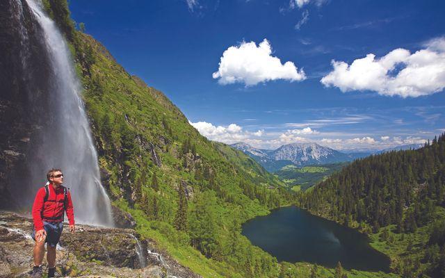 Wandern Bergsee Wasserfall