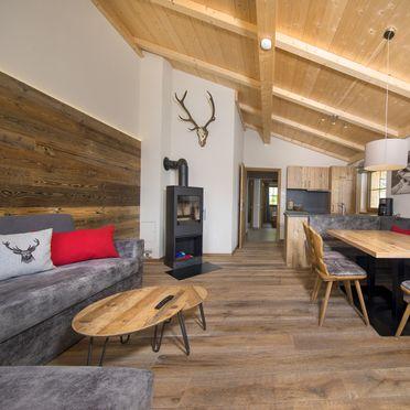 Chalet Bärenbadkogel, Wohnbereich mit Schwedenofen