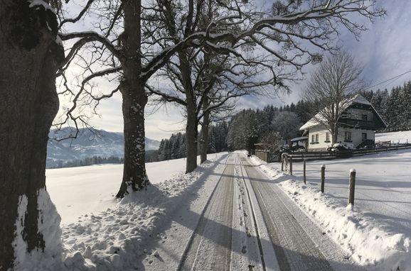 Winter, Kramasuri Hütte in Haus im Ennstal, Steiermark, Steiermark, Österreich