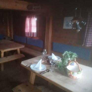 Hütte Unterwandalm, Essbereich