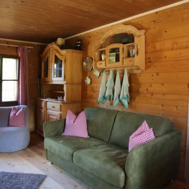 Wohnbereich, Hütte Almparadies in Forstau, Salzburg, Salzburg, Österreich