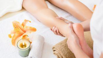 Entstauende Massage