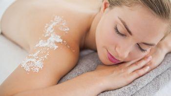 Öl-Salz-Massage