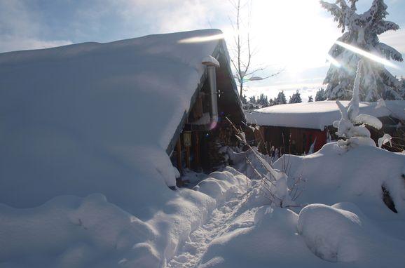 Winter, Holzfäller Hütte in La Rosiere - Vogesen, Vogesen, Alsace, FRANCE