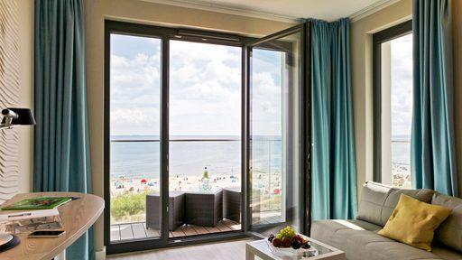 SEETELHOTEL Kaiserstrand Beachhotel - Zimmer Meerseite