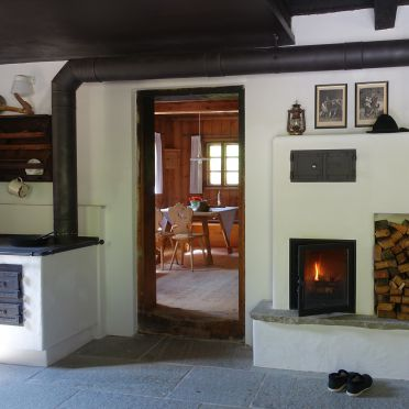 Holzofenherd/Kamin, Lacknerbrunn ASTL-Alm in Mayrhofen, Tirol, Tirol, Österreich