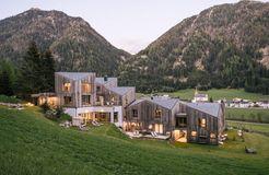 Biohotel Blaslahof: Außenbereich Abendstimmung - Blasla Hof, Gsies, Südtirol, Trentino-Südtirol, Italien