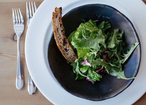 Biohotel Blaslahof: Kulinarik Salat - Blasla Hof, Gsies, Südtirol, Trentino-Südtirol, Italien