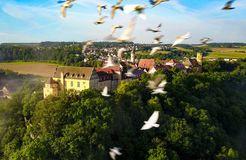 Biohotel Schloss Kirchberg: Luftaufnahme - Biohotel Schloss Kirchberg, Kirchberg an der Jagst, Baden-Württemberg, Deutschland