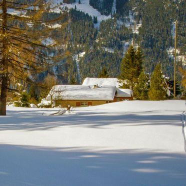 Außen Winter 26, Chalet Zwärgli in Wengen, Berner Oberland, Bern, Schweiz
