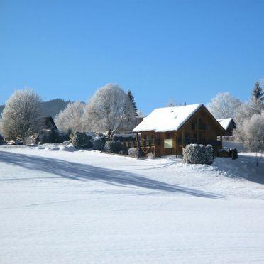 Außen Winter 26, Ferienchalet Katrin, Siegsdorf, Oberbayern, Bayern, Deutschland
