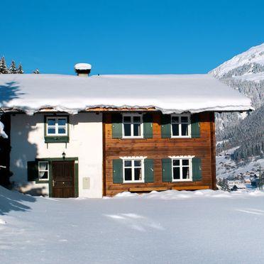 Außen Winter 22, Chalet Fitsch im Montafon, Gortipohl, Montafon, Vorarlberg, Österreich