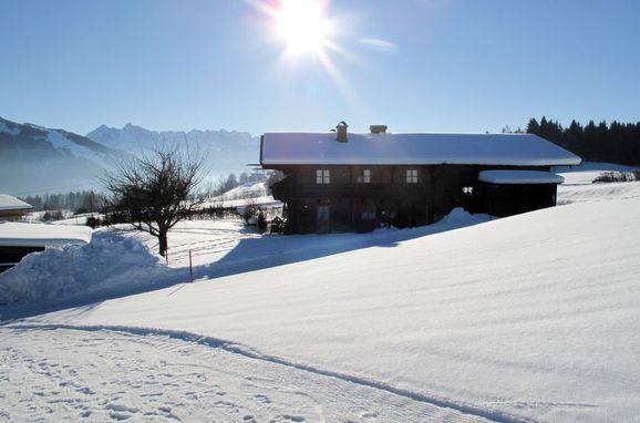 Außen Winter 16 - Hauptbild, Ferienhütte Marianne in Oberbayern, Reit im Winkl, Oberbayern, Bayern, Deutschland