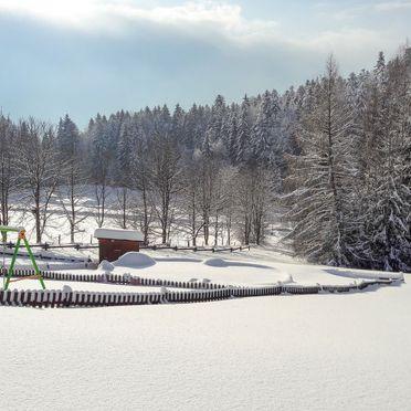 Außen Winter 24, Chalet Mühlberg im Bayerischen Wald, Spiegelau, Bayerischer Wald, Bayern, Deutschland