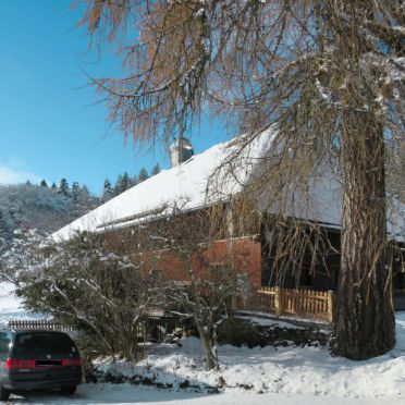 Outside Winter 24, Schwarzwaldhütte Bistenhof, Hinterzarten, Schwarzwald, Baden-Württemberg, Germany