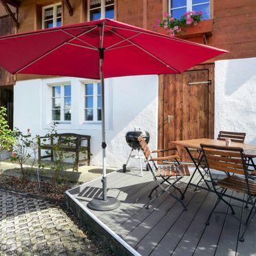 Außen Sommer 5, Ferienchalet Hüsli, Brienzwiler, Berner Oberland, Bern, Schweiz