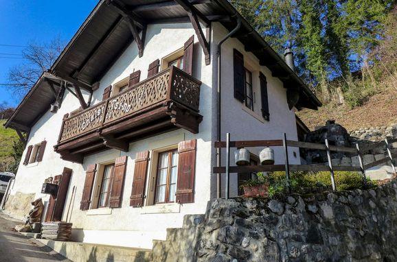 Innen Sommer 1 - Hauptbild, Ferienchalet Tsi-No in den Waadtländer Alpen, Gryon, Waadtländer Alpen, Waadt, Schweiz