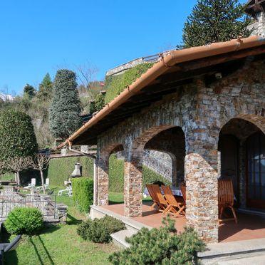 Außen Sommer 5, Villa Bellavista, Dongo, Comer See, Lombardei, Italien
