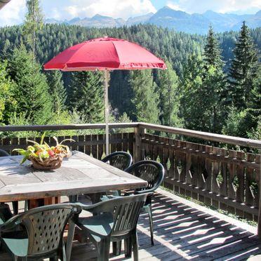Außen Sommer 3, Chalet Baita El Deroch, Predazzo, Fleimstal, Trentino-Südtirol, Italien