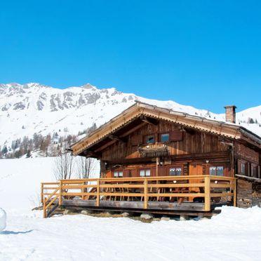 Außen Winter 23, Chalet Baita Medil, Moena, Dolomiten, Trentino-Südtirol, Italien
