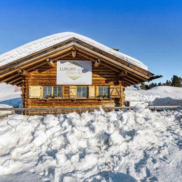 Außen Winter 29, Chalet Lusia, Moena, Fassa Valley, Trentino-Südtirol, Italien
