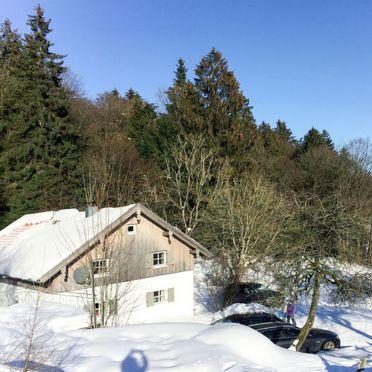 Außen Winter 26, Chalet Gulde, Lallinger Winkel, Bayerischer Wald, Bayern, Deutschland