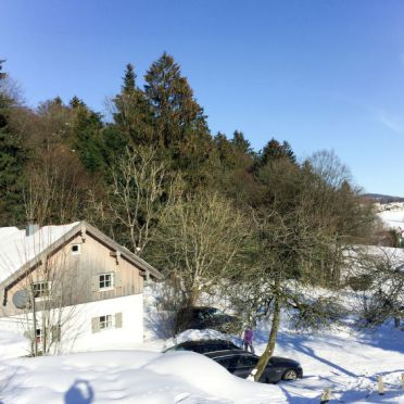 Outside Winter 26, Chalet Gulde, Lallinger Winkel, Bayerischer Wald, Bavaria, Germany