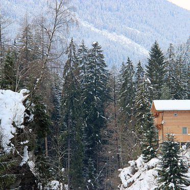 Außen Winter 22, Chalet am Arlberg, Pettneu am Arlberg, Arlberg, Vorarlberg, Österreich